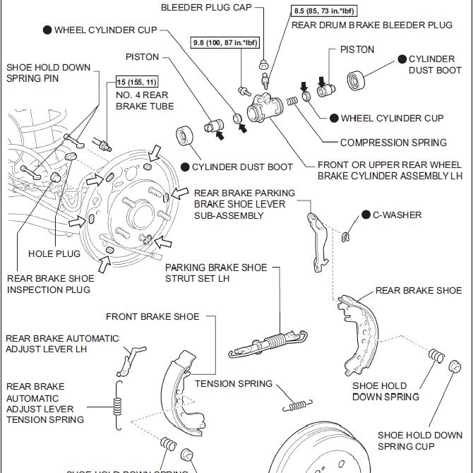 saturn sl brake drum diagram