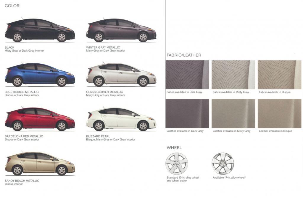 Toyota Prius Paint Colors