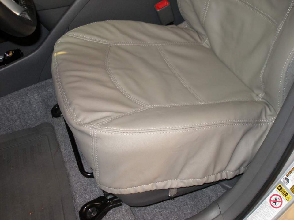 mini review leather seat cover by masque in prius priuschat. Black Bedroom Furniture Sets. Home Design Ideas