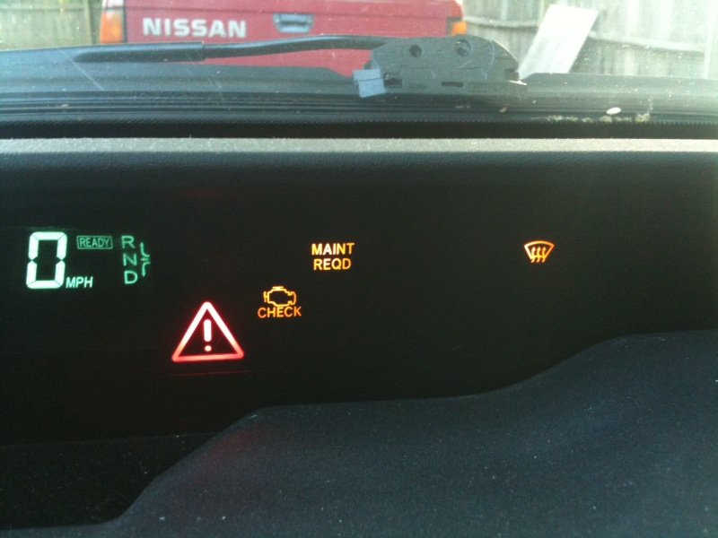 toyota prius warning lights red exclamation point iron blog. Black Bedroom Furniture Sets. Home Design Ideas