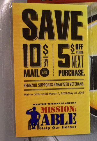 Wal-Mart PENNZOIL Platinum and Ultra 5 qt. jugs come with $10 off ...