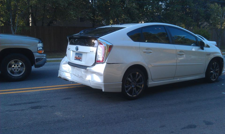 In October My BRAND New 2012 Toyota Prius W/ Sport Package (only 9,565  Miles On It!) Was Stopped At A Red Light And Then Rear Ended By ...