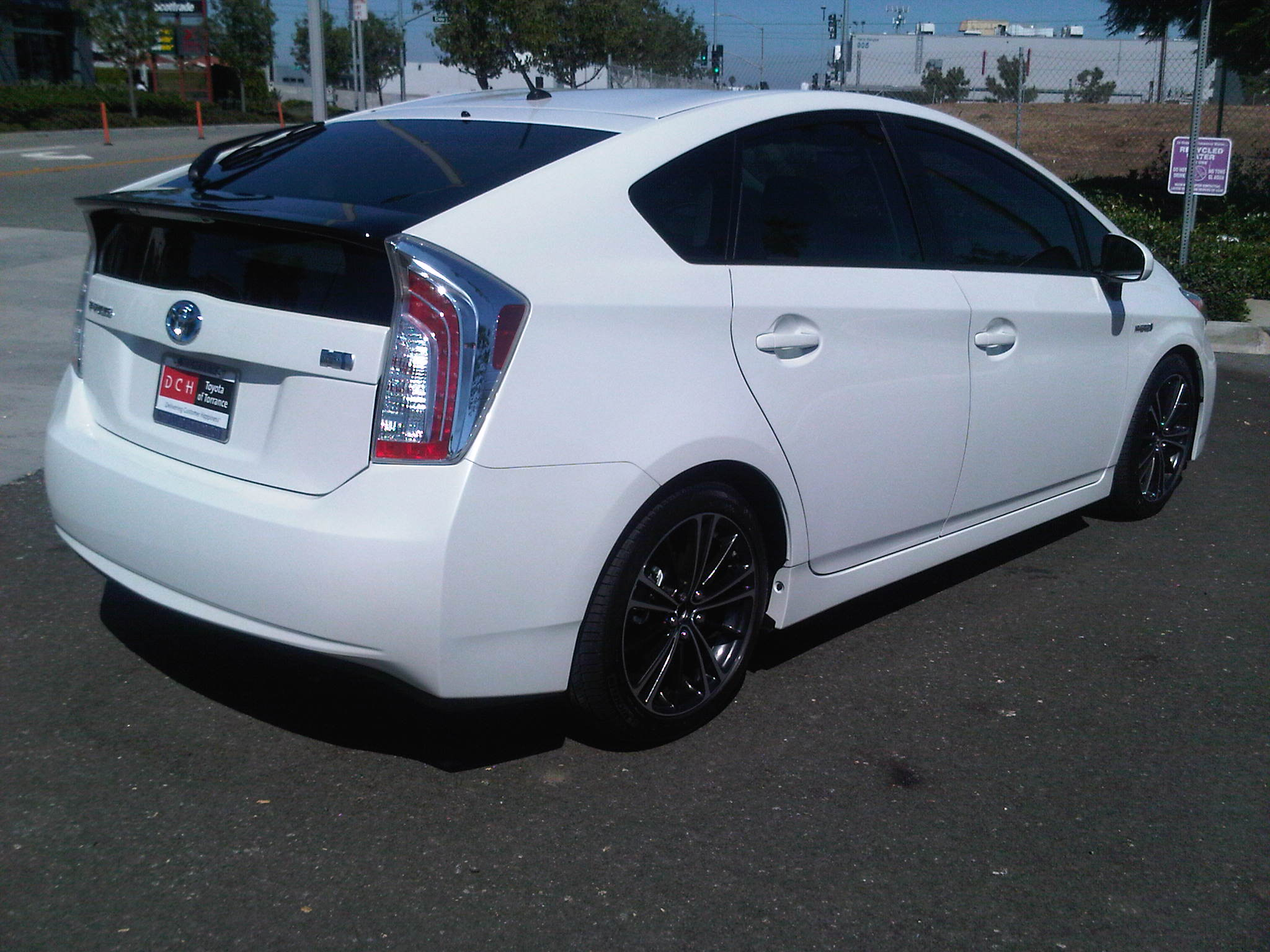 My 2012 Blizzard White Pearl Prius W Frs Wheels H Amp R