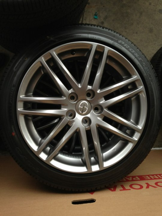 for sale 18 inch scion rims and toyo tires 5 x 100 225 45 18 priuschat. Black Bedroom Furniture Sets. Home Design Ideas