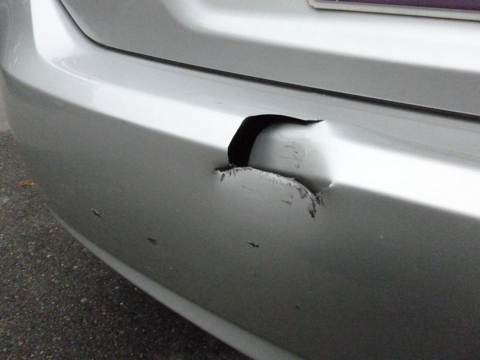 Backed bumper into a trailer hitch, do I have to fix this