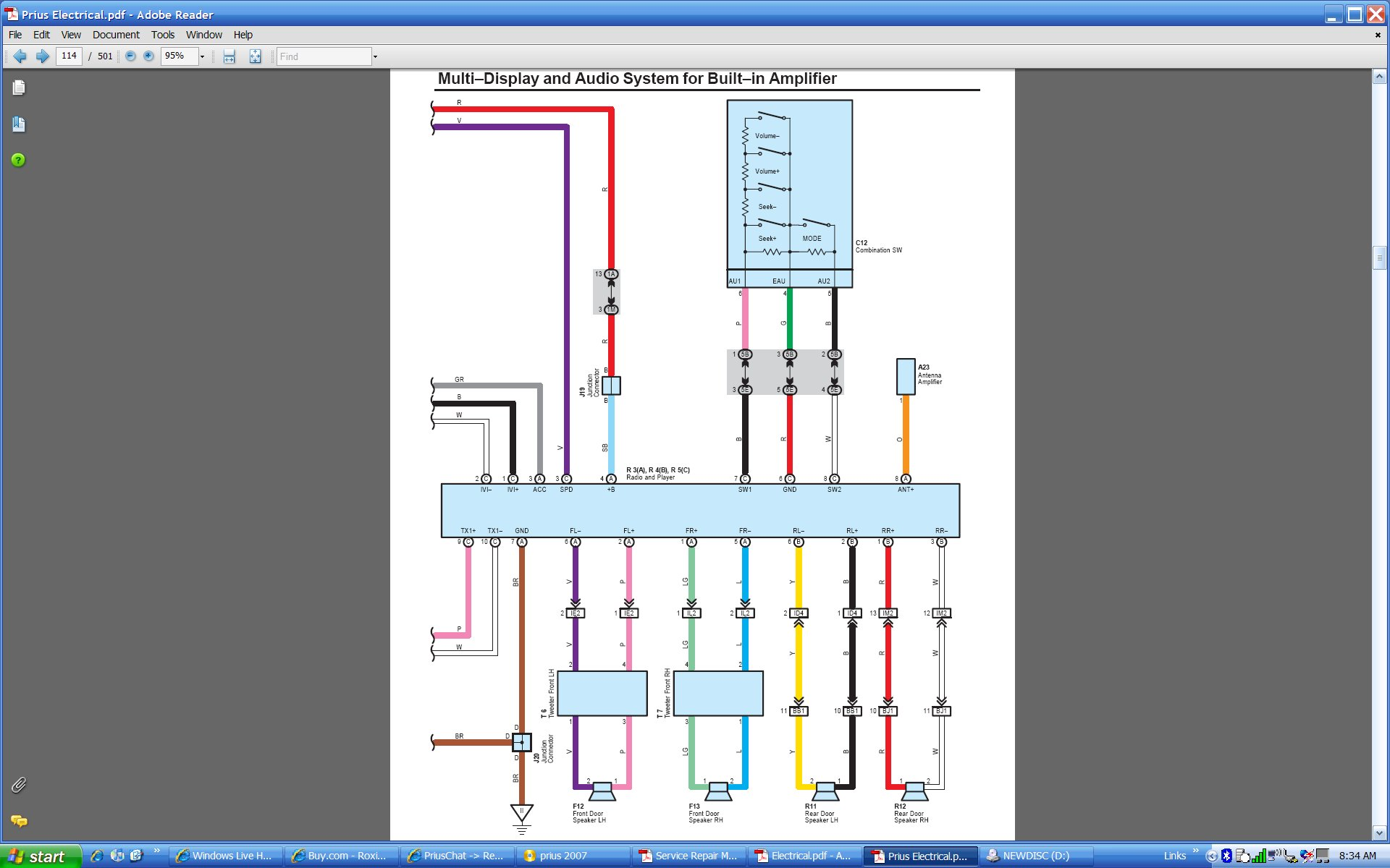 Bazooka Wiring Diagram from priuschat.com