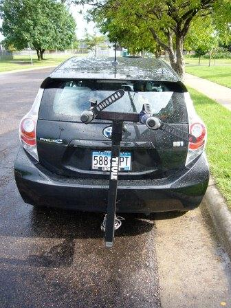 Prius c trailer hitch and bike rack | PriusChat